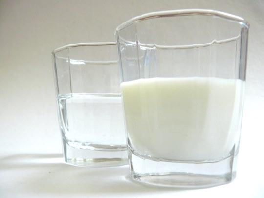 Молоко и вода