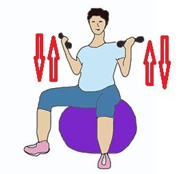 Упражнения для спины с мячом в домашних условиях видео