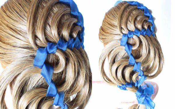 коса голливудская волна
