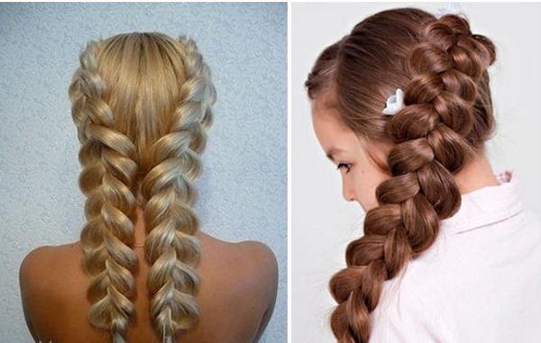 датская голландская французская коса наизнанку обратная