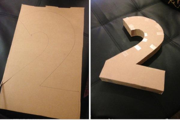 Цифра на день рождения своими руками. Как сделать плоские и объемные цифры для мальчика, девочки. Пошаговые мастер-классы