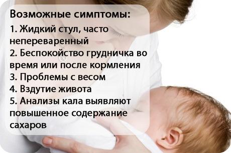 Лактазная недостаточность у грудничка. Симптомы, лечение вторичной, транзиторной, врожденной. Рекомендации врачей