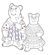 Дымковские игрушки. Шаблоны для рисования в детском саду, 3-5 класс, раскраски