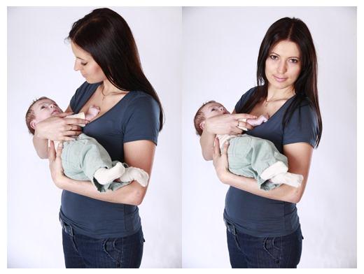Как правильно держать новорожденных столбиком, при подмывании, купании, после кормления