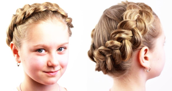 Как заплести корзинку из волос ребенку. Инструкции с фото для начинающих