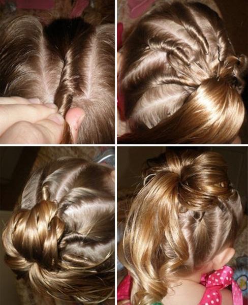 Красивые прически для девочки. Фото, как сделать пошагово на длинные и средние волосы