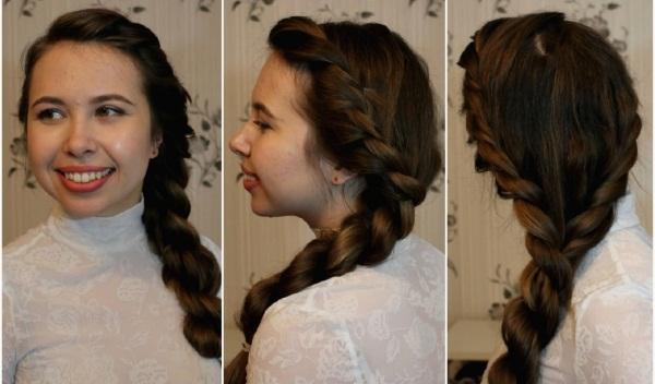 Прически на длинные волосы для девочек в школу на праздник своими руками пошагово