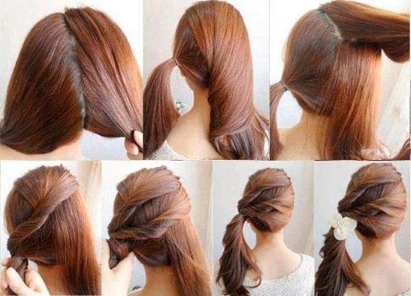 Прически с хвостом на длинные волосы для девочек. Фото, как сделать своими руками