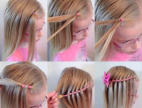 Прически с резиночками для девочек детские на длинные, средние волосы. Фото, видео, как сделать в домашних условиях