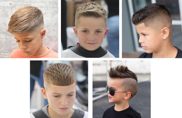 Модельные стрижки для мальчиков, подростков. Фото и названия