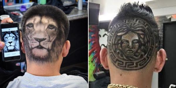Рисунки, выбритые машинкой на голове. Фото, идеи для мальчиков, как сделать