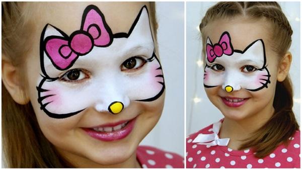 Рисунки на лице для девочек. Как сделать красками, гуашью, легкие и красивые, простые для игр