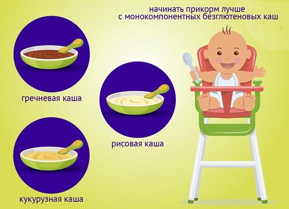 Прикорм в 6 месяцев при искусственном вскармливании, грудном. Таблица, меню на неделю, что можно