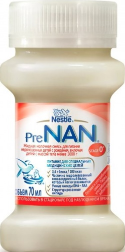 Пре Нан (Pre NAN) смесь для недоношенных. Инструкция по применению, цена, отзывы