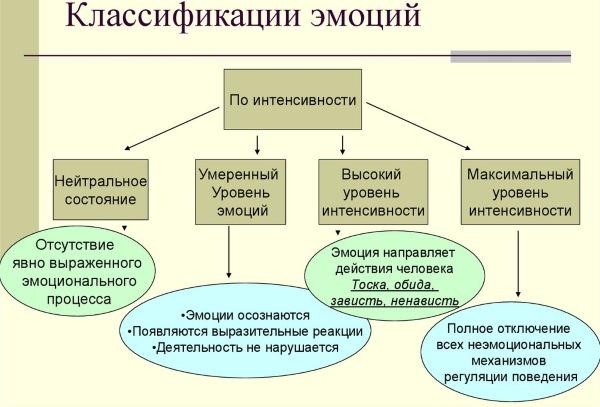 Список эмоций и чувств человека, таблица с описанием